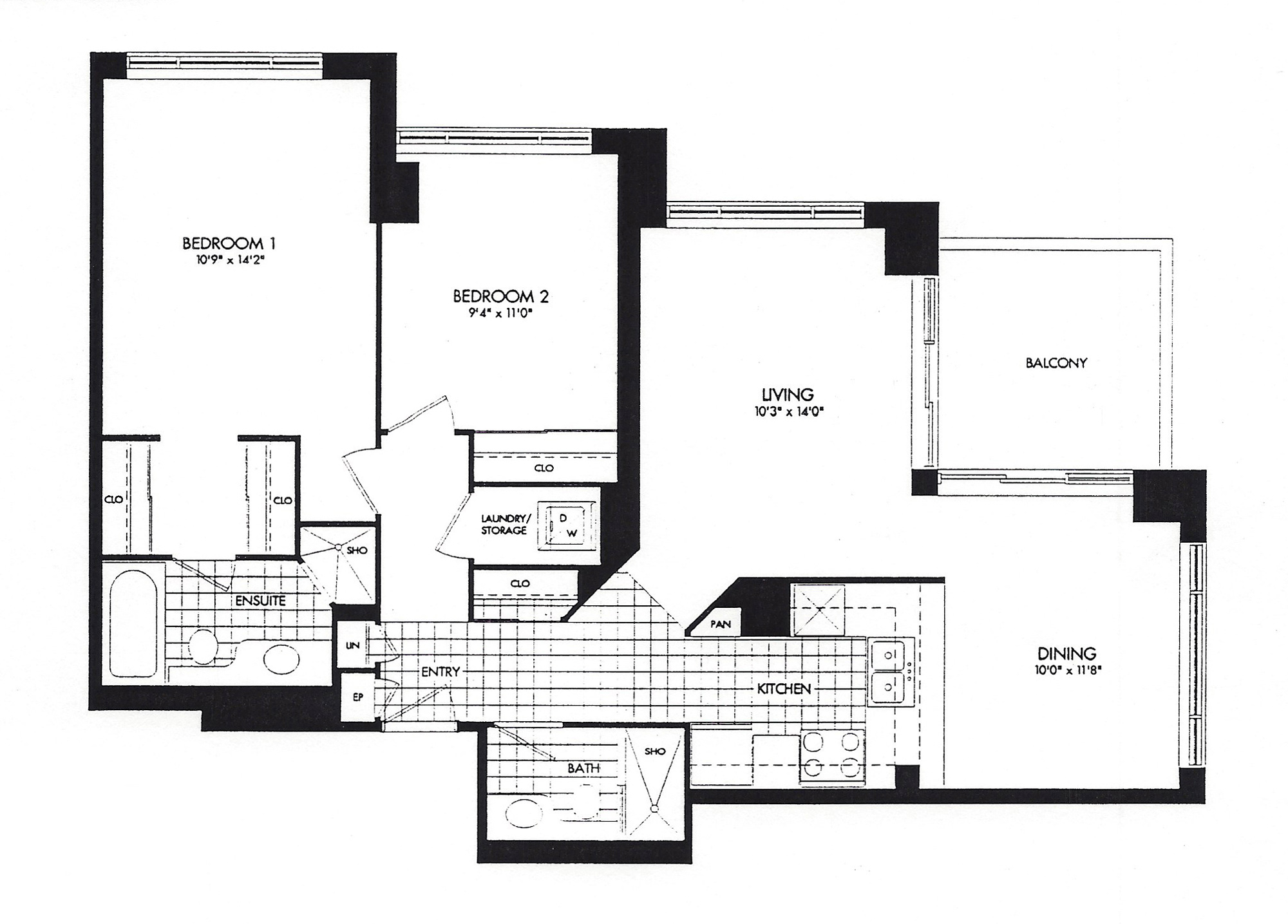 909 bay street suite 2307 stunning condo in the heart of for Floor plans 761 bay street